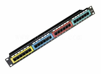 """""""NEW"""" Astrotek CAT6 UTP Patch Panel 24 Port PCB Type 110 IDC Type with Color Fra"""