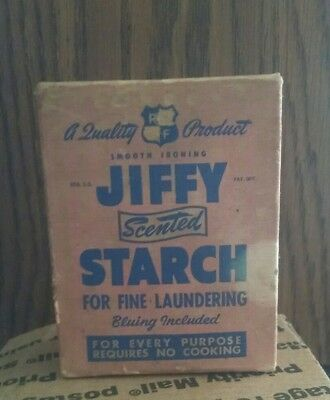 Vintage JIFFY Scented STARCH box unopened.