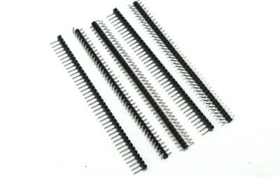 5 Pieces 1x40 Right Angle Breakable Male Pin Header 2.54mm Pitch 40Pin