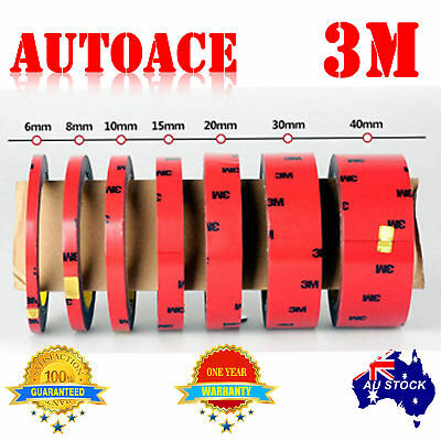 3M Double Face Sided Tapes pack 10mm,15mm,18mm 3 Meters for Automotive Usage OZ