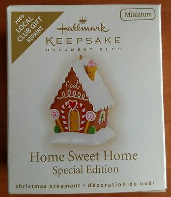 "Hallmark ""Home Sweet Home"" Miniature Ornament 2009 * Repaint"