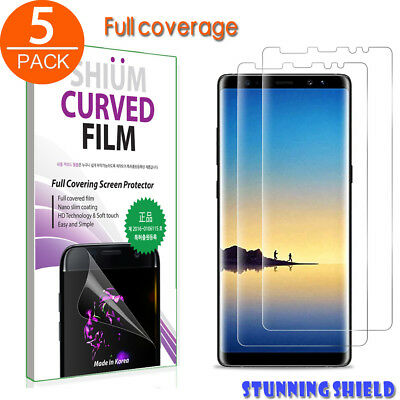For Samsung Galaxy S10 Note 9 Screen Protector[5 pack]TPU Defender Full Coverage