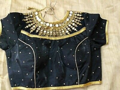 ready made designer blouse With real mirror work (40%off)