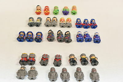 Mixed lot of 36 Ooshies - Marvel/DC