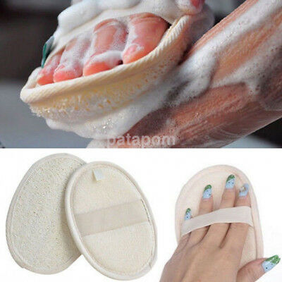 Natural Luffa Loofah Scrubber Exfoliating Bath Shower Body Skin Wash Sponge Pad