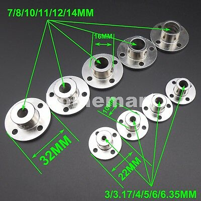 NEW ALL KINDS OF Rigid Flange Coupling Guide Shaft seat Steel Coupler 3MM - 14MM