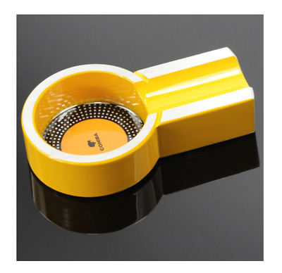 COHIBA Yellow Titanium Alloy Mini Cigar Travel Ashtray