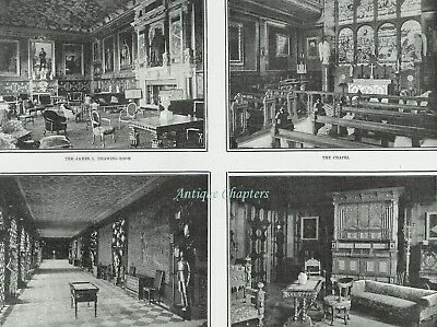 Lord Salisbury At Home Hatfield House Interior & History 1902 3 Page Article