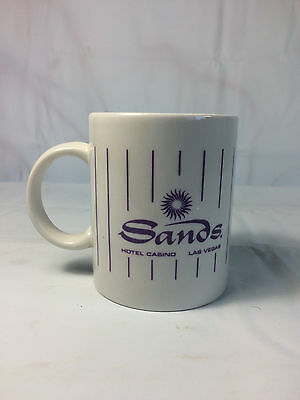 SANDS Casino Hotel Las Vegas Coffee Tea Cup Mug Purple White