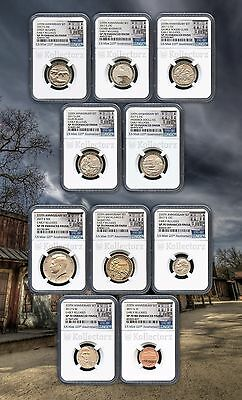 2017 S 225Th Enhanced Uncirculated U.s.10Coin Set Ngc Sp70 Early Releases