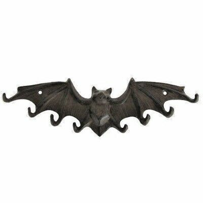 New Cast Iron Wall Mount Bat W/ Wings Key Hat Hook Holder Rack Home Office Decor