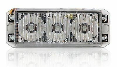 Abrams T3-W Led Grille Emergency Vehicle Warning Strobe Lights - White