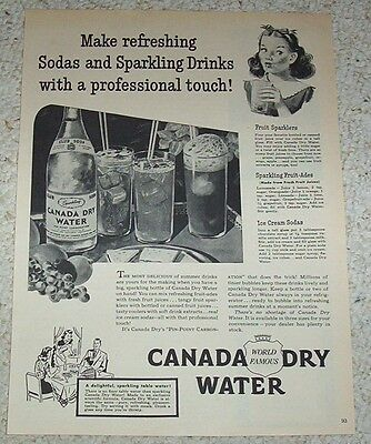 1946 ad page - Canada Dry Club soda sparkling water vintage Print Advertising