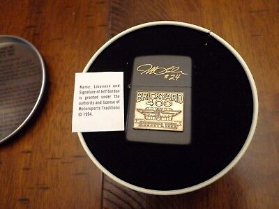 Jeff Gordon 1994 Brickyard 400 Inaugural Race Winner Zippo Lighter Mint In Box