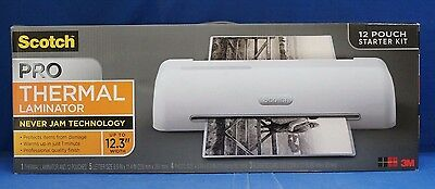 "3M  Scotch Pro 12"" Thermal Laminator TL1306 w/ 12 Starter Pouches Laminating New"