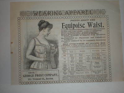 1895 Pretty Victorian Lady in Equipoise Waist Corset Vtg Ad