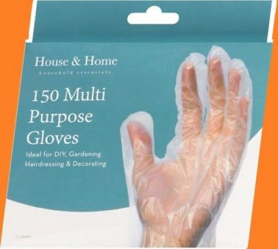 600 to 150 Gloves Multi Purpose Polythene Plastic Safe Protect Disposable UK