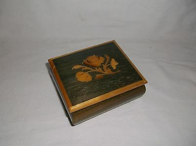Made in Italy Inlaid Flowers Music Box Close to You