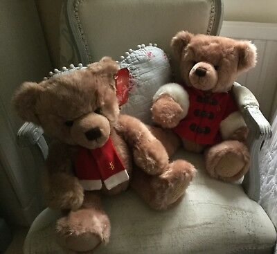 """Exclusive Harrods Twins 2013 Bears X 2  Large 13"""" Sitting NEW Very Rare"""