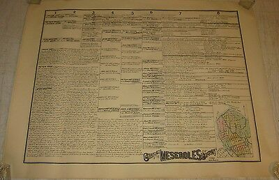 Antique 'Genealogy of the MESEROLES of GREENPOINT' Brooklyn NEW YORK MAP Print