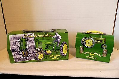 Set of 2 John Deere Collector Lunchbox  Miniature Size Colorful Graphics