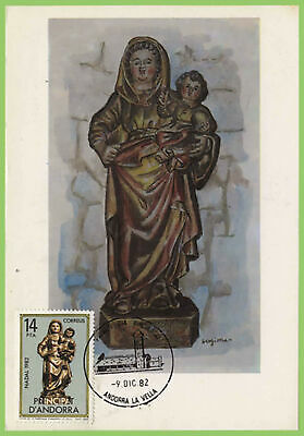 Andorra 1982 Christmas Maximum Card, FDI