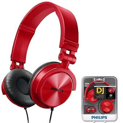 Philips GENUINE SHL3050RD DJ Style Monitoring Headphones (Brand New Sealed)