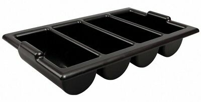 Heavy Duty Black Cutlery Tray Catering Stacking Restaurant Kitchen Storage