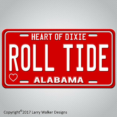 ROLL TIDE  Aluminum Car Truck License Plate Tag New