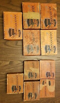 Vtg Reese's Interlock Brass Stencils w/Boxes 10 sets for one money