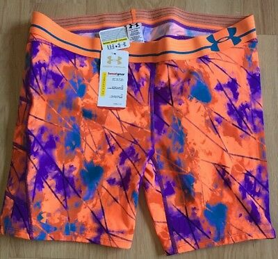 Under Armour Softball Sliding Shorts Orange And Purple Womens Size Xl NEW!!