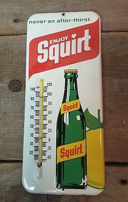 Vintage 1971 Metal Squirt Thermometer - Advertising Sign WORKS USA