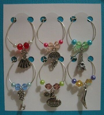 Wine Glass Charms - set of 6 - female
