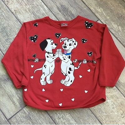 Vintage Disney Kids Boys Girls Unisex 101 Dalmatians Sweater Sweatshirt