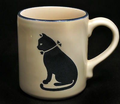 Blue Cat Image Coffee Mug Cup (Tree Logo on Bottom)