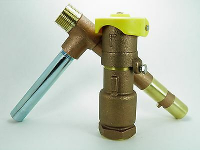 """1"""" Commercial Quality 2 Piece Locking Brass Quick Coupler Valve And Key"""