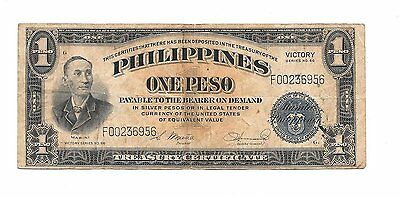Philippines - Silver Certificate - One Peso - Victory Series 66