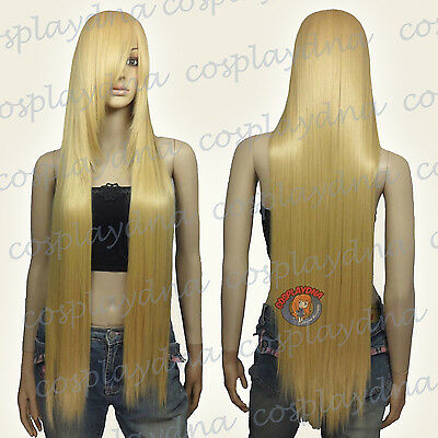 40 inch Hi_Temp Series Beige Blonde Long Cosplay DNA Wigs 85086