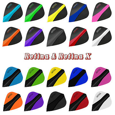 HARROWS Retina & Retina X Dart Flights Kite Form 100 Mikron stark 20 Farben
