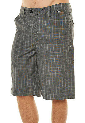 "Brand New + Tags Hurley Mens Size 34"" ""barcelona"" Walk Shorts Black White Check"