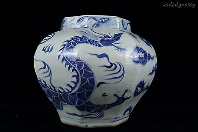 A Chinese Beautiful Blue and White Porcelain Dragon Pot