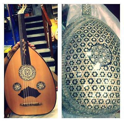Arabic Oud String Instrument Mother Of Pearl Asersus Fretless Lute And paded BAG