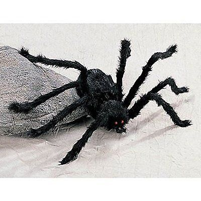 GIANT POSEABLE HAIRY HALLOWEEN SPIDER - Over 3 Feet Wide