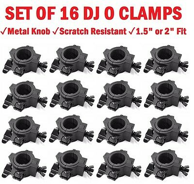 """O-Clamp 16 Pack DJ Lighting Clamp to Mount Light to 1.5"""" - 2"""" Trussing and Pipe"""