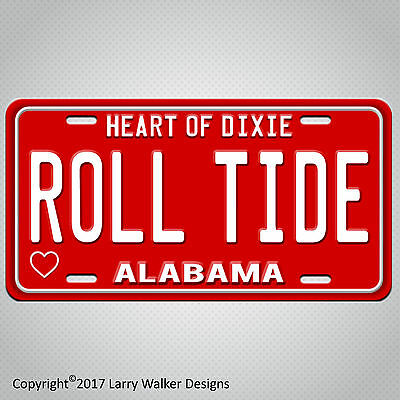 ALABAMA ROLL TIDE Aluminum License Plate Tag New