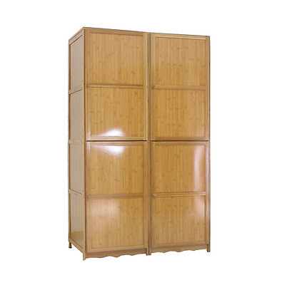 Bamboo Modern Cabinet Detachable Cloth Hanging Organizer Multi Use 竹衣柜