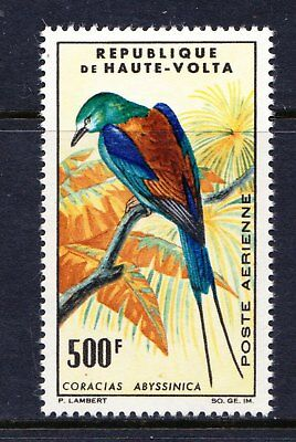 Upper Volta 1965 Birds Issue - Abyssinian Roller - MNH - Cat £23 - (78)
