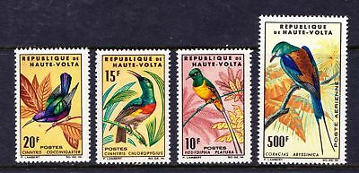 Upper Volta 1965 Birds Issue - Sunbirds - 4 MNH values - Cat £28 - (77)