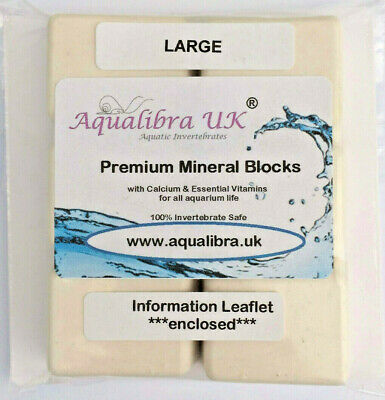 PREMIUM MINERAL BLOCKS 17g x 6 with added CALCIUM+VITAMINS+FOOD for TROPICAL