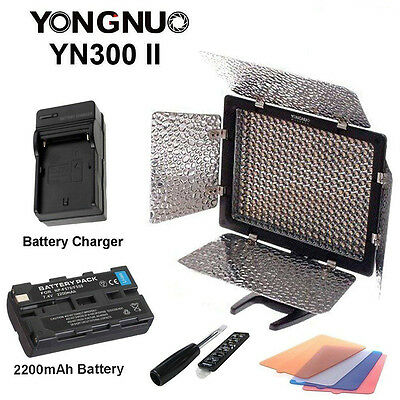 Yongnuo YN300 II 3200-5500k Pro LED Video Studio Light for C/N & F550 Battery